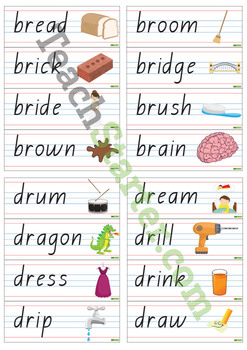 R Blend Word Wall Vocabulary