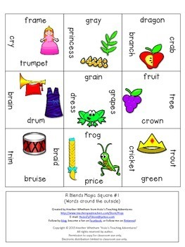 R Blends Games | R Blends Activities | R Blends Puzzle | Literacy Centers