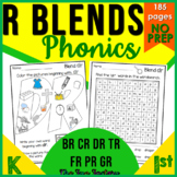 R Blend Activities and Worksheets 1st Grades