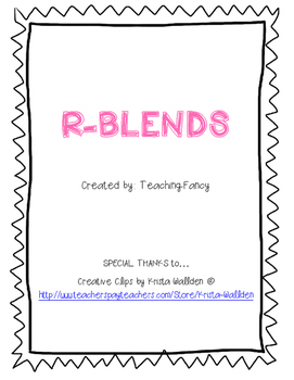 R Blends Activity Packet - NO PREP