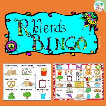 R Blends Artic Bingo (Initial & Medial)
