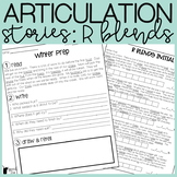 R Blends Articulation Stories with Language Component