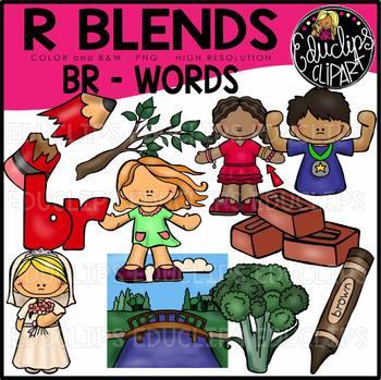 R Blends BR Words Clip Art Bundle {Educlips Clipart}