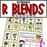 R Blends Unit BR, CR, DR, FR, GR, PR, TR Sorting Activity and Worksheets