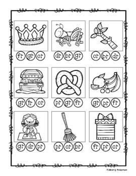 R-Blends Bingo Dab Activity Sheet (R Blends)