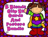 R Blends Center Bundle:  Clip It Cards and Posters