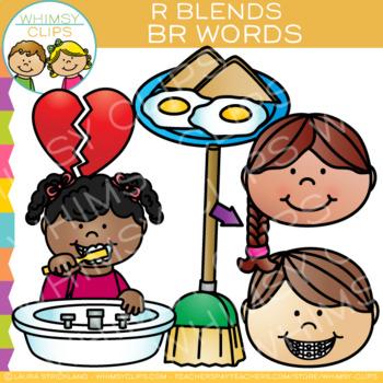 R Blends Clip Art - Br Words - Volume One