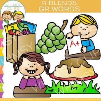 R Blends Clip Art - GR Words