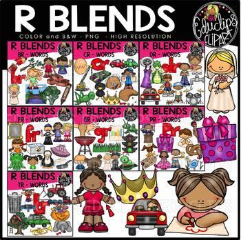 R Blends Words Clip Art Mega Bundle {Educlips Clipart}