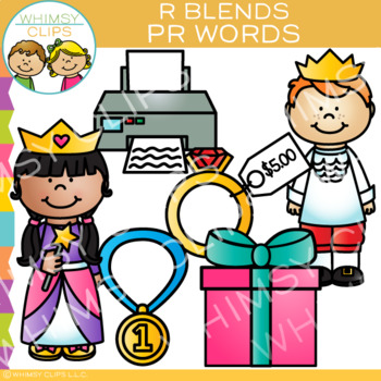R Blends Clip Art - PR Words