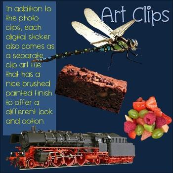 R Blends Clip Art Phonics Bundle Photo & Artistic Digital Stickers 134 images