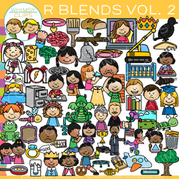 R Blends Clip Art Volume Two