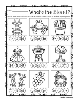 R-Blends Clip Cards and Activity Sheet (R Blends)