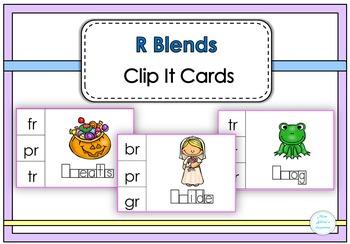 R Blends Clip It Cards