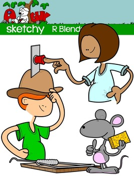 "Blends ""R"" Clip art"