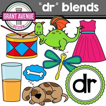 R Blends Clipart - DR Words Clipart