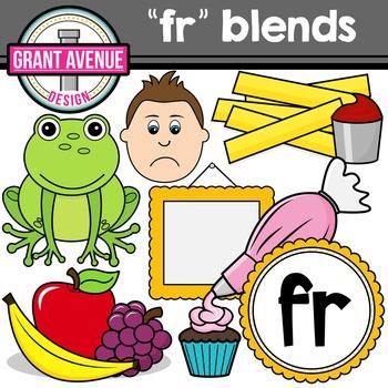 R Blends Clipart - FR Words Clipart