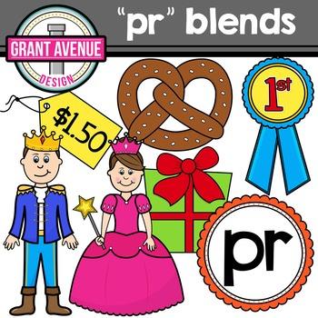 R Blends Clipart - PR Words Clipart