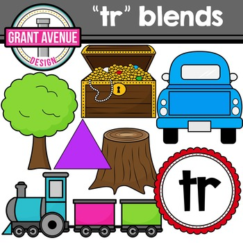 R Blends Clipart - TR Words Clipart