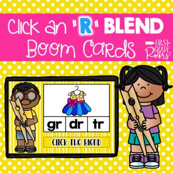 R Blends Clip Digital Task BOOM CARDS