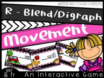 R - Blends/Digraph Movement Games BUNDLE (cr, gr, pr, tr, fr, br, dr, wr)