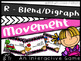 R - Blends/Digraph Movement Games BUNDLE (cr, gr, pr, tr,