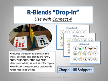 """R-Blends """"Drop-In"""" Articulation Game (Use with Connect 4)"""