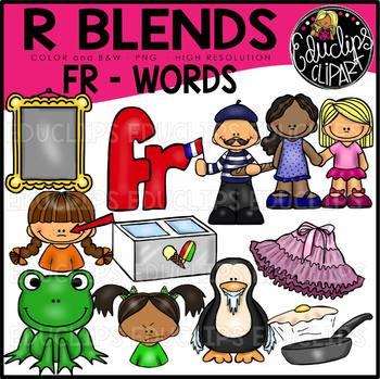 R Blends FR Words Clip Art Bundle {Educlips Clipart}