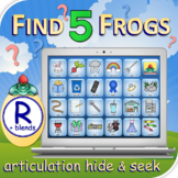 R Find 5 Frogs - Articulation Activity - Teletherapy - Dig