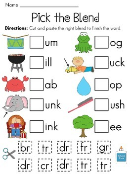 Blends freebie | KindergartenKlub.com | Pinterest | Phonics, Pre ...