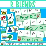 R Blends Game - Picture Sort - Center Activity