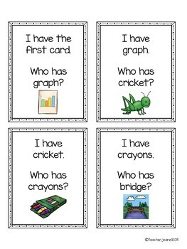 Blends - I have, who has game cards (with and without pictures) - 3 Games