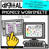 Distance Learning R Blends Worksheets for Google Classroom