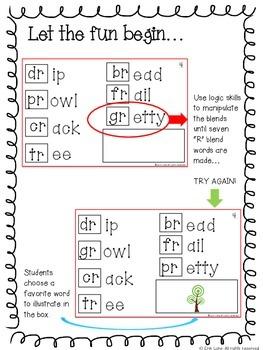 """R"" Blends Interactive Logic Book"