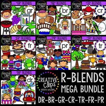 R-Blends Mega Bundle {Creative Clips Digital Clipart}
