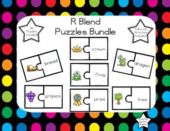 R Blends Mega Pack ~ 118 Full Color Puzzles Plus Follow Up Activities