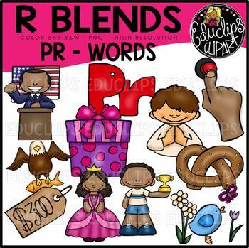 R Blends PR Words Clip Art Bundle {Educlips Clipart}