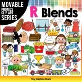 R Blends Phonics Clip Art Movable Pieces