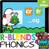 R Blends Phonics Practice Google Slides Digital Resource (May)