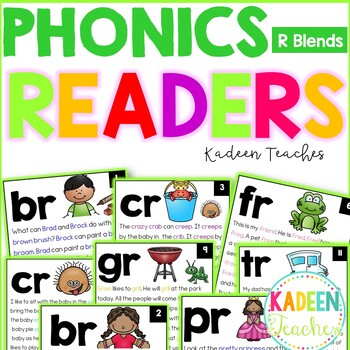 R Blends Phonics Readers