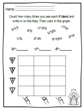R Blends- Word Sort, Comprehension Stories, Graphs, and More
