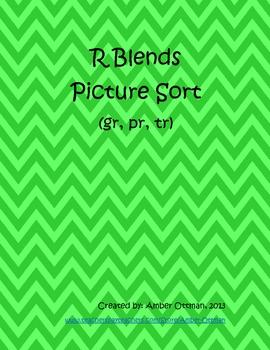 R Blends Picture Sort (gr, pr, tr blends)