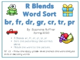 R Blends: Picture Sort with Matching Words