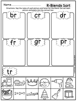 R-Blends Picture Sorts