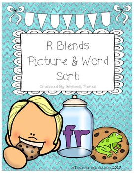 R Blends Picture & Word Sorts
