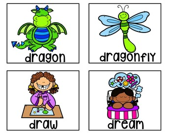 R Blends (Pocket Chart Activity and Worksheets)