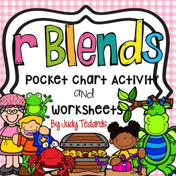 R Blends (Pocket Chart Activity and Worksheets)
