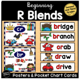 R Blends Pocket Chart Cards and Posters