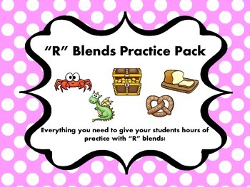 """R"" Blends Practice Pack"