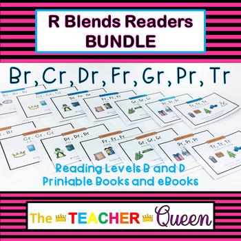 #tptsupportsmallshops R Blends Readers BUNDLE (Printable Books and eBooks)